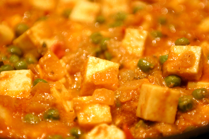 Paneer Mattar - Indian Cheese with Peas - Quick Indian Cooking