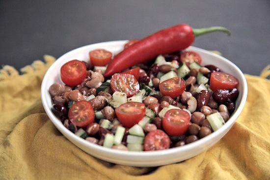 Mallika Basu - Indian Mixed Bean Salad