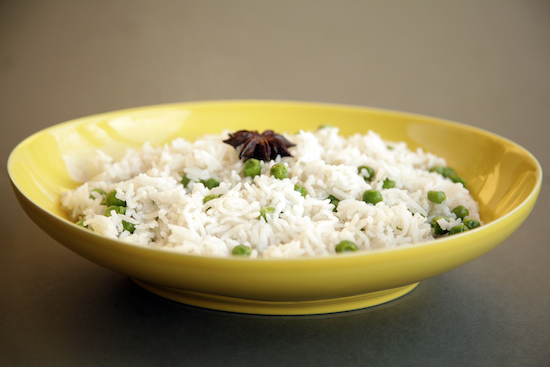 Mallika Basu - Simple peas pulao recipe