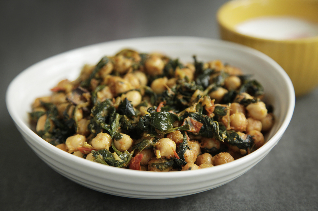Spinach and Chick Pea