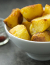 Saffron roast potatoes 550