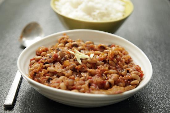 Mallika Basu - Lobia Masala – spiced Black Eyed Beans