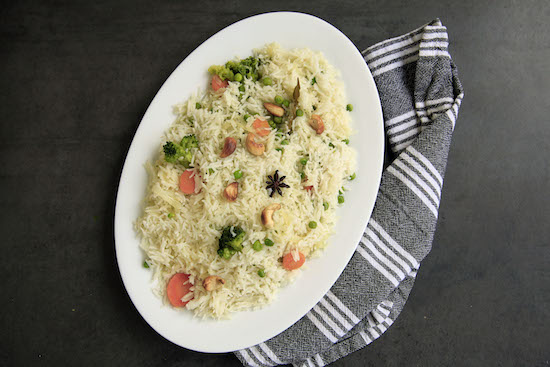 Mallika Basu - Quick vegetable pulao