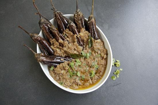 Mallika Basu - Easy Bagara Baingan Recipe