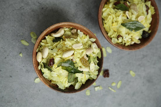 Mallika Basu - Easy Diwali Snack Poha Chivda